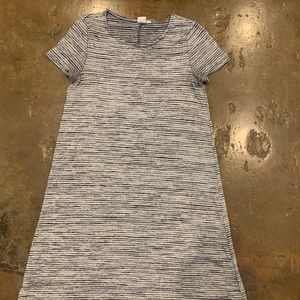 Navy blue and cream stripped T-shirt dress